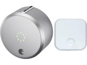 August Smart Lock Pro + Connect, 3rd Gen Technology - Silver, Works with Alexa and Google Assistant