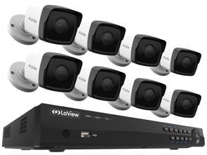 LaView 1080P PoE IP Security Camera System, 8 HD 2MP Cameras with Matrix IR Day / Night view, 8 Channel NVR (NO HDD Included, Sold Separately)