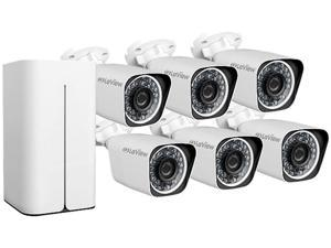 LaView 1080P 6 Wi-Fi Security Cameras 8CH IP NVR Security Camera System with 1TB Hard Drive, 6 Wi-Fi HD 2MP Bullet Cam 100' Night Vision Surveillance
