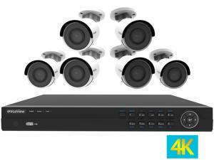 LaView 4K UltraHD (3840 x 2160P) Full PoE IP Camera Security System, 8-channel H.265 NVR w/ UHD 4K Output, 6 x 4K UltraHD Bullet Full HD In / Outdoor IP Cameras (No HDD Included, Sold Separately)
