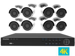 LaView 4K UltraHD (3840 x 2160P) Full PoE IP Camera Security System, 16-channel H.265 NVR w/ UHD 4K Output, 8 x 4K UltraHD Bullet Full HD In / Outdoor IP Cameras (No HDD Included, Sold Separately)