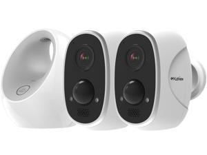 LaView ONE Link Wireless Outdoor Camera System with Smart Station, 2 Rechargeable Battery Powered Wireless Security Cameras with Two Way Audio, Night Vision Weatherproof Indoor / Outdoor Wireless