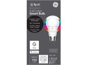 C by GE Full Color Smart Bulb (1 LED A19 Bulb), 60W Replacement, Bluetooth Enabled, Works with Google Assistant Without A Hub, Works with Alexa and Homekit With Hub