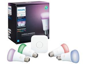 Philips Hue White & Color Ambiance A19 LED Starter Kit - Multicolor