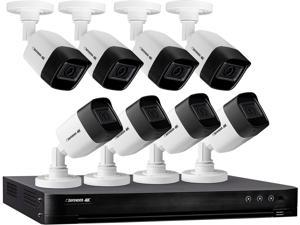 Defender 4K2T8B8 8 Channel H.265+ /H.265/H.264+/H.264 Ultra HD 4K (8MP) Wired Security System with 8 Night Vision Cameras