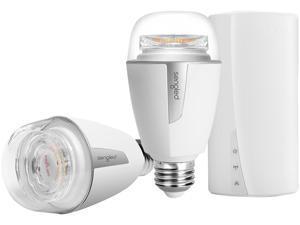 Sengled K-Z01-1H-2A19NAE26W Element Plus - Starter Kit (2 A19 Bulbs + Hub) - 60W Equivalent Tunable White (2700-6500K) Smart LED Light Bulbs, Zigbee, Works with Alexa, Google Assistant and SmartThings