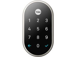 Nest x Yale lock (Satin Nickel) with Nest Connect