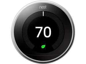 Nest T3019US Learning Thermostat - 3rd Generation - Polished Steel