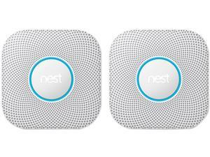 Nest Protect 2nd Gen Hardwired Smoke and Carbon Monoxide Alarm, Wired 2PK
