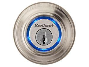 Kwikset Kevo 99250-002 Satin Nickel Smart Lock with Bluetooth enabled deadbolt for iPhone 4S, 5, 5C & 5S, 6 and 6 Plus