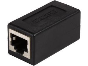 Coboc COUPLER-CAT6-STP Black Cat6 STP Ethernet Shielded 8P8C RJ45 Network Jack In-Line Coupler Female, Lan Patch Cord Cable Extender