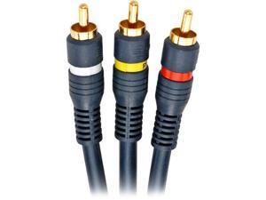 STEREN Model 254-315BL 6 ft Python Home Theater RCA Cable Male to Male