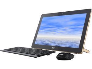 "Acer All-in-One Computer Aspire AZ3-700-UR12 Pentium J3710 (1.60 GHz) 4 GB DDR3 500 GB HDD 17.3"" Touchscreen Windows 10 Home 64-bit"