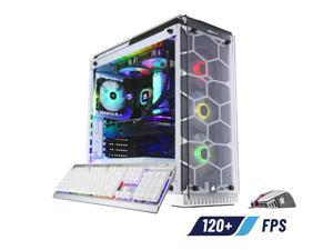 ABS iCUE Crystal S - Intel i7-9700K - Strix GeForce RTX 2070 - 32GB DDR4 3200MHz - 1TB SSD - Liquid Cooling (240mm) - Gaming Desktop PC - White