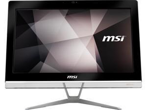 """MSI All-in-One Computer PRO 20EX 8GL-004US Pentium Silver N5000 (1.10 GHz) 4 GB DDR4 500 GB HDD 32 GB M.2 SATA SSD 19.5"""" Windows 10 Pro 64-Bit"""