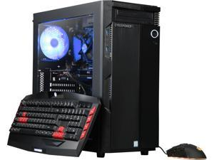 CyberpowerPC Gaming Desktop Gamer Xtreme C366 Intel Core i3 8th Gen 8100 (3.60 GHz) 8 GB DDR4 1 TB HDD 16 GB Optane Memory NVIDIA GeForce GTX 1060 Windows 10 Home 64-Bit