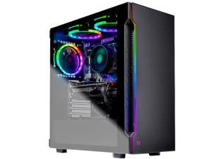 SkyTech Shadow - Gaming Desktop PC - AMD Ryzen 7 2700 (8-Core 3.2 GHz), NVIDIA GeForce RTX 2060 SUPER (8 GB), 16 GB DDR4, 500 GB SSD, AMD B450, Windows 10 Home 64-bit
