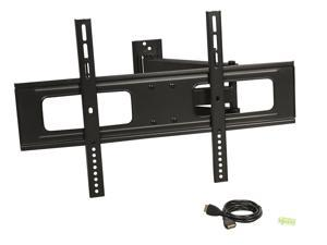"Rosewill RHTB-17001 37"" - 70"" LCD LED TV Wall Mount with 6 ft. 4K HDMI Cable, Max. Load 110 lbs., Max VESA 600x400 mm, Black, Compatible with Samsung, Vizio, Sony, Panasonic, LG and Toshiba TV"