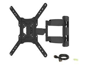 "Rosewill RHTB-17002 17"" - 55"" LCD LED TV Wall Mount with 6 ft. 4K HDMI cable, Max. Load 77 lbs., Max VESA 400x400 mm, Black, ..."