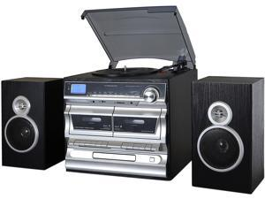 Trexonic TRX-11BS 3-Speed Turntable With CD Player, Double Cassette Player, Bluetooth, FM