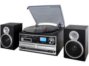 Trexonic TRX-68B 3-Speed Turntable With CD Player, CD Recorder, Cassette Player