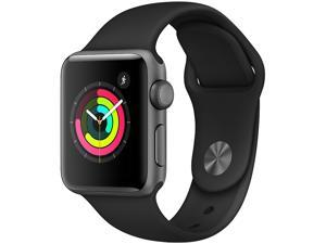 Apple Watch Series 3 (GPS), 38mm Space Gray Aluminum Case with Black Sport Band - Space Gray Aluminum