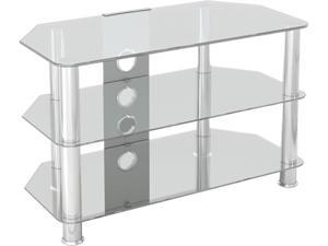 "AVF SDC800CMCC-A up to 42"" Classic - Corner Glass TV Stand with Cable Management"