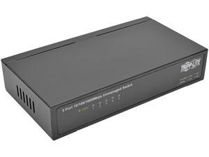 Tripp Lite 5-Port Gigabit Ethernet Switch, Desktop, Unmanaged Network Switch 10/100/1000 Mbps, RJ45, Metal (NG5)