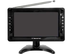"Trexonic TRX-G1018LCD 10"" Portable Ultra Lightweight Rechargeable Widescreen LCD TV with SD, USB, Headphone Jack, AV Input"