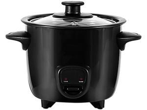 Dash DRCM200BK Black Personal Mini Rice Cooker with Cook/Warm Function, Black