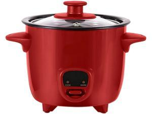 Dash DRCM200RD Red Personal Mini Rice Cooker with Cook/Warm Function, Red