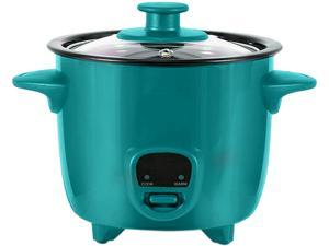 Dash DRCM200TO Turquoise Personal Mini Rice Cooker with Cook/Warm Function, Turquoise