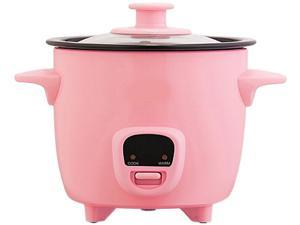 Dash DRCM200PK Pink Personal Mini Rice Cooker with Cook/Warm Function, Pink