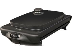 Tayama TG-821 Black Electric Griddle with Glass Cover