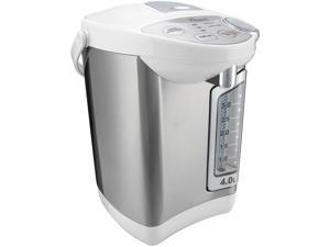 Rosewill Electric Hot Water Boiler and Warmer, 4.0 Liter Hot Water Dispenser, Stainless Steel / White, R-HAP-15002