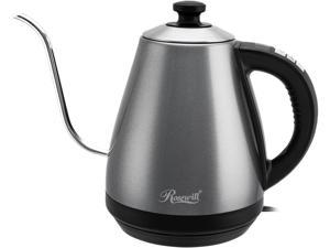 Rosewill RHKT-17002G 1-Liter Electric Gooseneck Kettle Water Boiler with Variable Temperature Control Precise Spout 1000W Quick Heating for Pour Over Coffee and Tea, Stainless Steel (Galaxy Grey)
