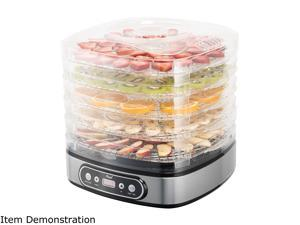 Rosewill RHFD-19001 Food Dehydrator Machine 5-Tray Stackable Dehydrating Racks with Adjustable Height, Digital Temperature and Timer Settings, Fast Drying Fruit, Meat, Jerky