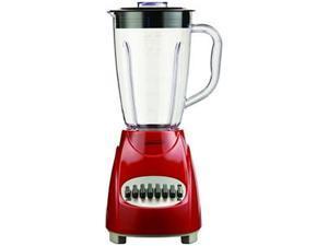 Brentwood JB220R Black 12 Speed Blender Plastic Jar - Red 12 speeds