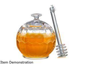Prodyne PL-44 HONEY PLEASE Acrylic Honey Jar with Dripper