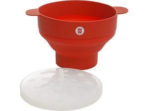 Weight Watchers 116916.01 Elmsley 9.5 x 6 Inch Silicone Microwave Pop Corn Bowl, Crimson