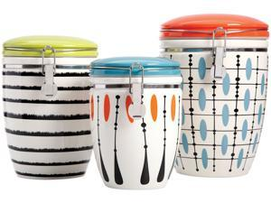 Studio California by Laurie Gates Nordic Cool Luminescent Mix 3 Piece Canister Set, Assorted Designs, 113191.03