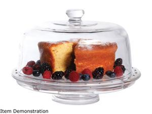 Gibson Home 92263.02 Great Foundations Multifunctional Cake Plate w/ Dome