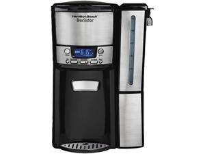 Hamilton Beach 47900 Black Brew Station 12-Cup Dispensing Programmable Coffeemaker with Removable Water Reservoir