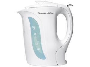 Proctor Silex K2070Y White 1-Qt. Electric Kettle  White