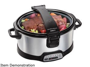 Hamilton Beach  33467  Silver  6 Qt.  Stay or Go 6 Quart Programmable Slow Cooker