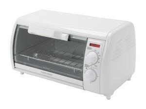Black & Decker TRO420 4-Slice Toaster Oven, White