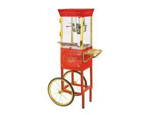 Nostalgia 53-Inch Commercial 8-Ounce Popcorn Cart, Red CCP510