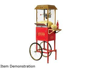 Nostalgia CCP1000RED 59-Inch Vintage 10-Oz. Commercial Popcorn Cart, Red