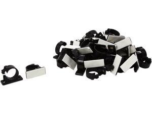 C2G 43053 50Pk .68in Self-Adhesive Cable Clamp