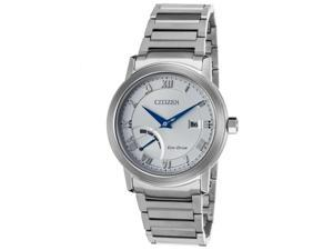 Citizen Aw7020-51A Men's Power Reserve Stainless Steel Silver-Tone Dial Watch